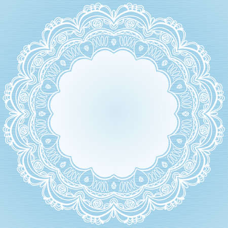 arabic motif: Winter concept frame. Vintage decorative round pattern with lacy ornament. Christmas vector background.  Place for your text. It can be used for decorating of invitations, greeting cards, decoration for bags, clothes.