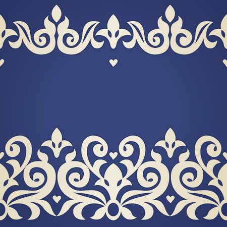 friso: Vector sin frontera en estilo victoriano. Adornado elemento para el diseño y el lugar de texto. Patrón de encaje ornamental para las invitaciones de boda y tarjetas de felicitación. La decoración tradicional. Vectores