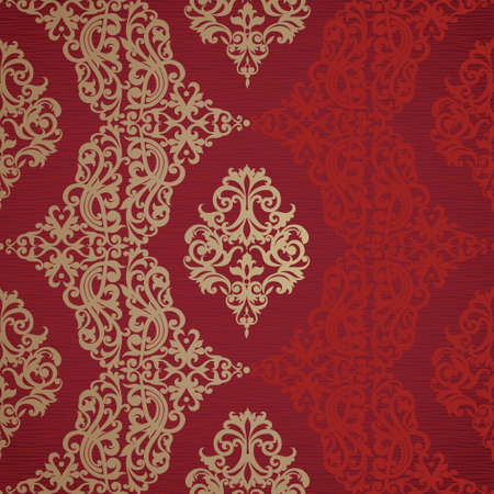 scroll tracery: Vector seamless border in Victorian style. Element for design. Place for your text. It can be used for decorating of wedding invitations, greeting cards, decoration for bags and clothes.
