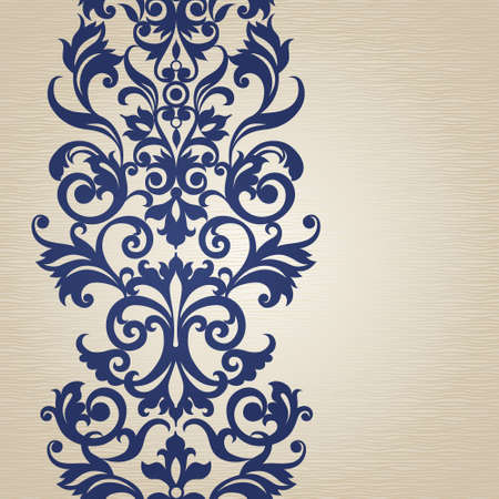 swirl background: Vector seamless border in Victorian style. Element for design. Place for your text. It can be used for decorating of wedding invitations, greeting cards, decoration for bags and clothes.