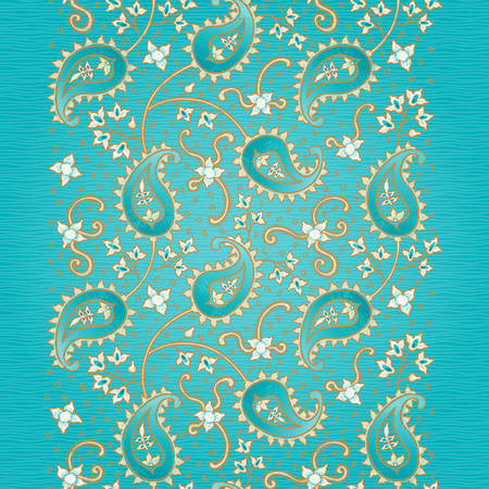 gentle background: Ornate vintage seamless border with lacy ornament. Persian style background. Place for your text. It can be used for decorating of invitations, greeting cards, decoration for bags and clothes.