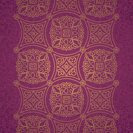arabic motif: Vintage seamless border with lacy ornament. Ethnic lace pattern. Place for your text. It can be used for decorating of wedding invitations, greeting cards, decoration for bags and clothes. Illustration