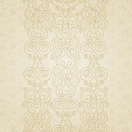 Vector seamless border in Eastern style. Element for design. Place for your text. It can be used for decorating of wedding invitations, greeting cards, decoration for bags and clothes. Vector