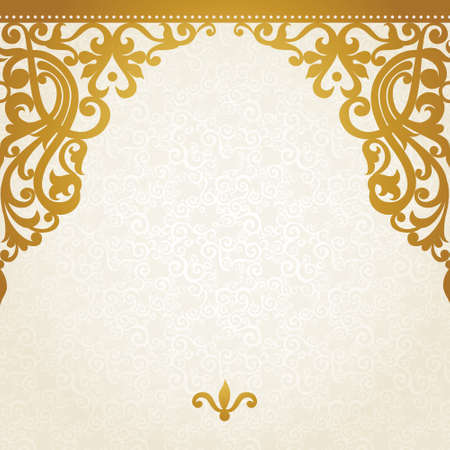 victorian wallpaper: Vector seamless border in Victorian style. Element for design. Place for your text. It can be used for decorating of wedding invitations, greeting cards, decoration for bags and clothes.