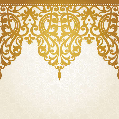 royal background: Vector seamless border in Victorian style. Element for design. Place for your text. It can be used for decorating of wedding invitations, greeting cards, decoration for bags and clothes.