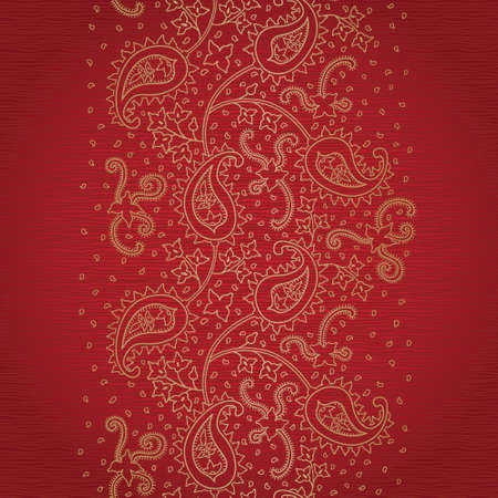 arabic motif: Ornate vintage seamless border with lacy ornament. Persian style background. Place for your text. It can be used for decorating of invitations, greeting cards, decoration for bags and clothes.