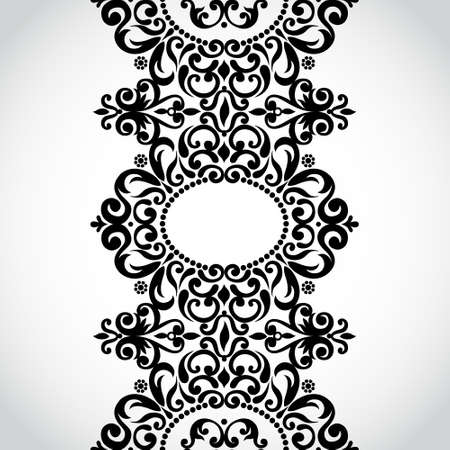 scroll border: Vector seamless border in Victorian style. Element for design. Place for your text. It can be used for decorating of wedding invitations, greeting cards, decoration for bags and clothes.