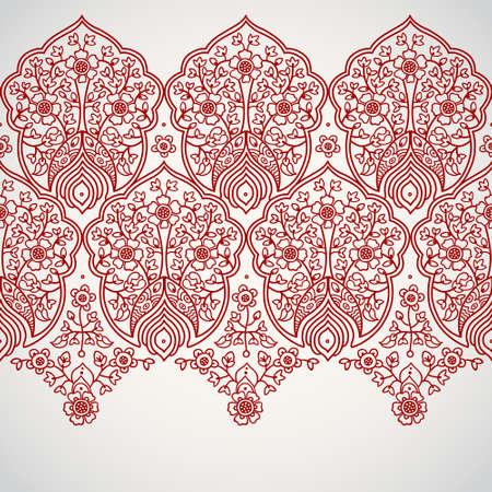 Vintage naadloze grens met kanten ornament. Etnische kantpatroon. Plaats voor uw tekst. Het kan worden gebruikt voor het versieren van de bruiloft uitnodigingen, wenskaarten, decoratie voor tassen en kleding.