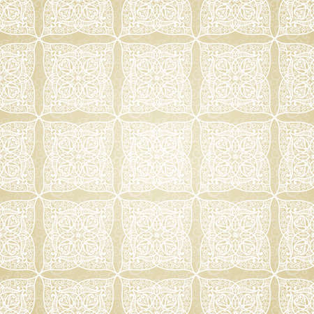 scroll tracery: Vector seamless pattern in Eastern style. Light element for design. Ornamental backdrop and lace background. Ornate floral decor for wallpaper. Endless texture. Monochrome pattern fill.