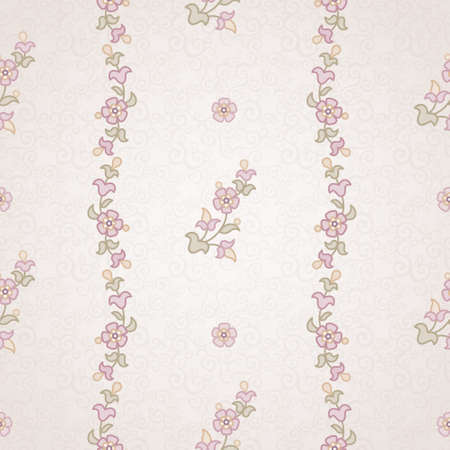 ベクトル シームレスな花柄東部のスタイルで。デザインのパステル調の白黒要素です。明るい背景の装飾的なレース網目模様。華やかな花装飾のた