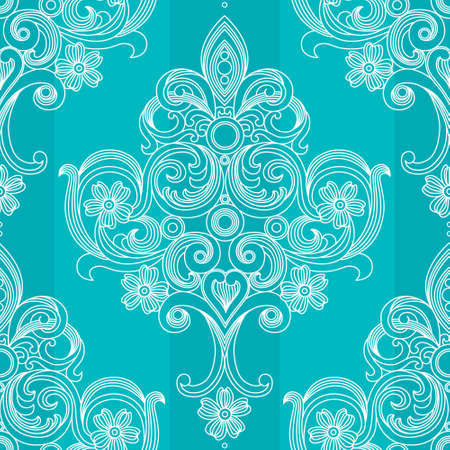 victorian wallpaper: Vector seamless pattern in Victorian style. Element for design. Place for your text. It can be used for wallpaper, pattern fills, web page background, surface textures, classic fabric. Illustration