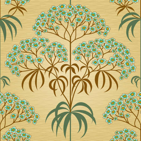 classic style: Traditional floral pattern in retro style. Ornamental wallpaper. Background in Victorian style. It can be used for wallpaper, pattern fills, web page background, surface textures, classic fabric. Illustration