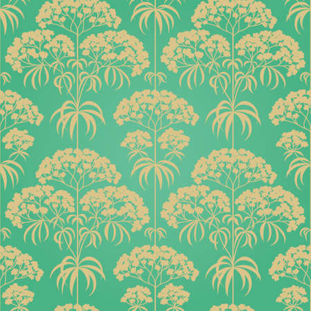 Traditional floral pattern in retro style. Ornamental wallpaper. Background in Victorian style. It can be used for wallpaper, pattern fills, web page background, surface textures, classic fabric. Vector