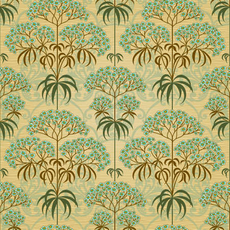 Traditional floral pattern in retro style. Ornamental wallpaper. Background in Victorian style.