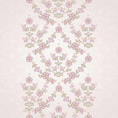 ベクトル東スタイルで花の境界線。デザインとテキストのための場所の華やかな要素です。結婚式の招待状やグリーティング カードの装飾用レース
