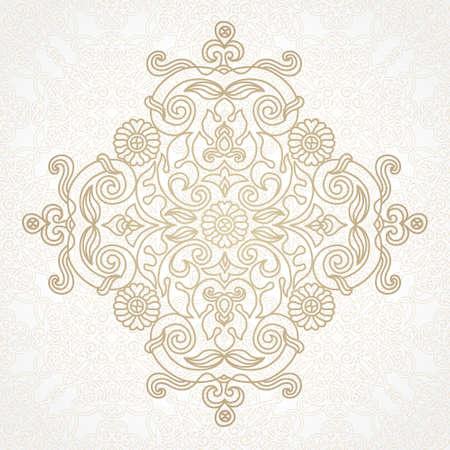 scroll work: vintage pattern in Eastern style on scroll work background Illustration