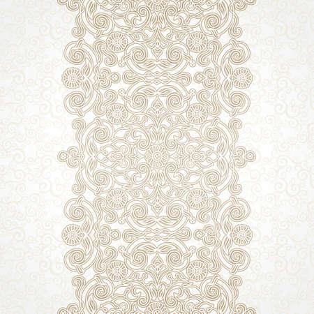 eastern: floral border in Eastern style Illustration