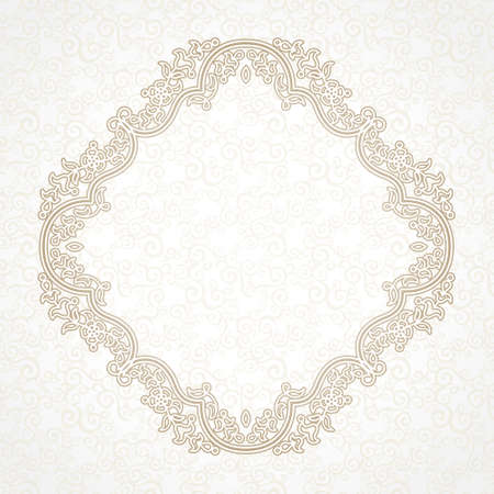 filigree frame: Filigree frame in Eastern style Illustration