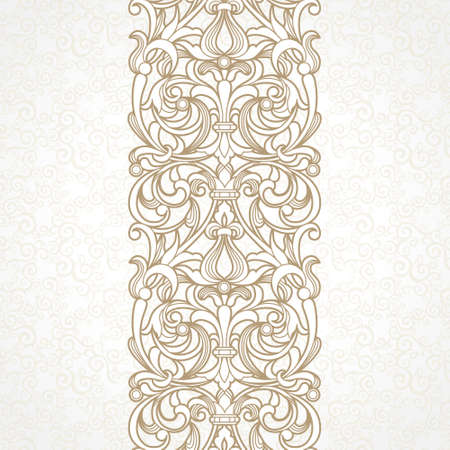 floral border in Victorian style