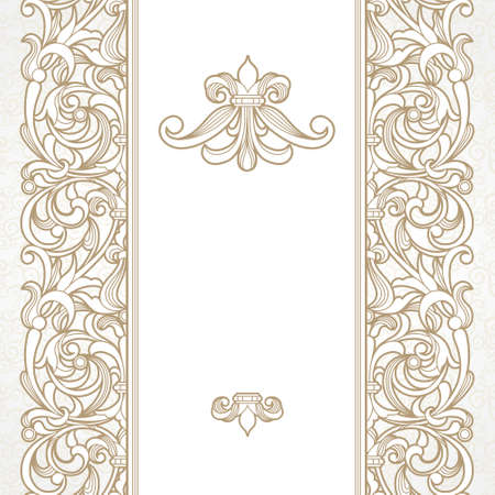 an ornament: seamless border in Victorian style