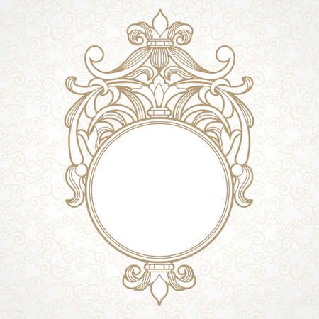 filigree border: Filigree frame in Victorian style