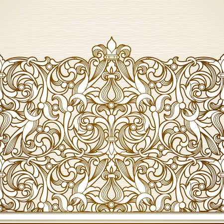 seamless border in Victorian style