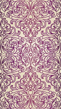 ビクトリア朝様式のシームレスなパターン