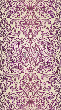 seamless pattern in Victorian style Illustration