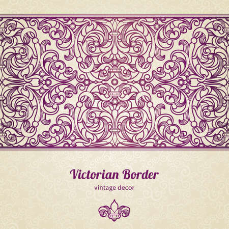 traditional pattern: floral border in Victorian style