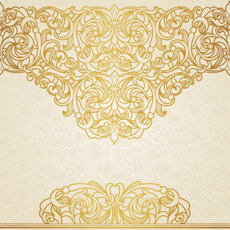golden daisy: floral border in Victorian style