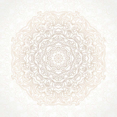 scroll work: vintage pattern in Victorian style on scroll work background Illustration