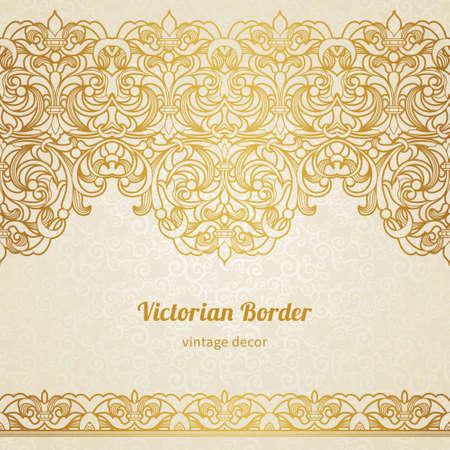 vintage border in Victorian style Illustration