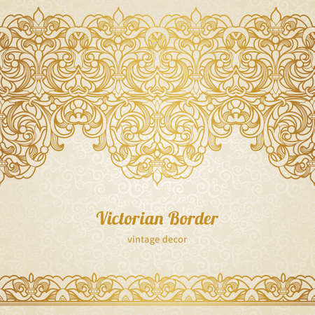 filigree border: vintage border in Victorian style Illustration
