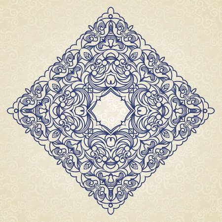 vintage pattern in Victorian style in shape of a square