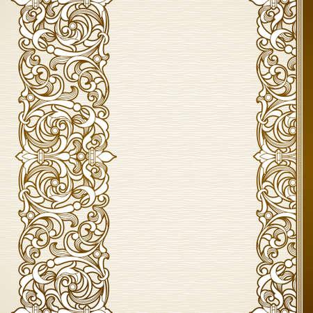 friso: frontera transparente en estilo victoriano Vectores