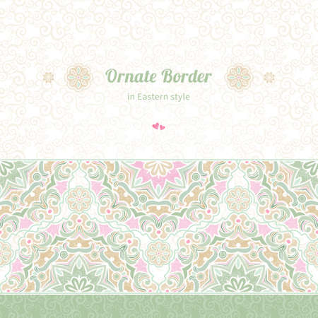 seamless border in Eastern style Vector