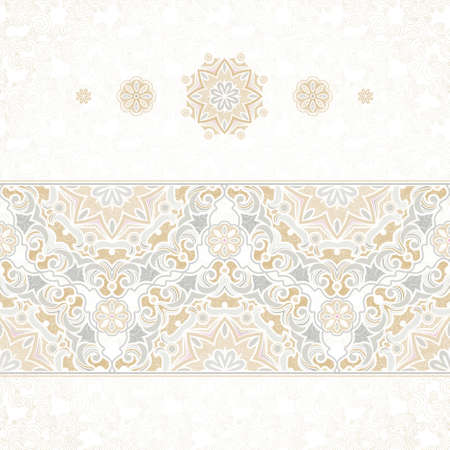 traditional: seamless border in Eastern style Illustration