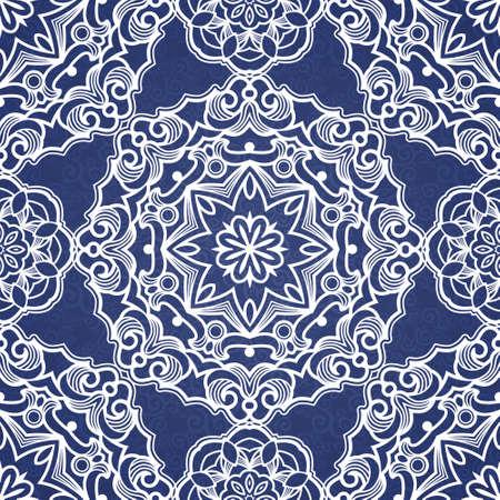 tracery: Ornamental blue tracery Illustration