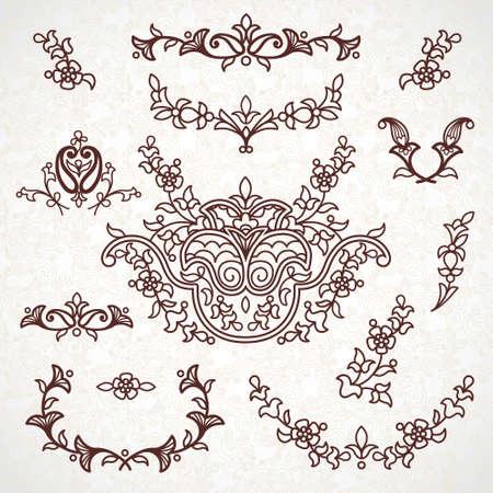 campanas: Patrones de encaje decorativas para las invitaciones de boda y tarjetas de felicitación Vectores