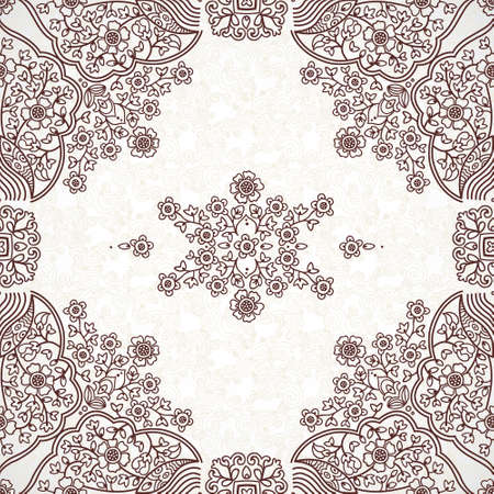 tracery: Ornamental tracery on light background Illustration