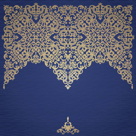 arabic motif: Vector baroque ornament in Victorian style. Ornate element for design. Toolkit for designer. It can be used for decorating of wedding invitations, greeting cards, decoration for bags and clothes. Illustration