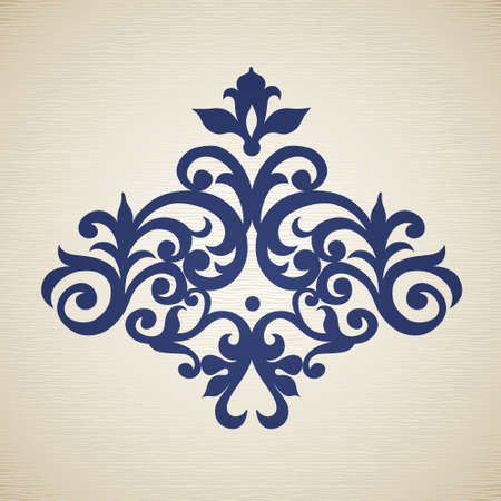 rococo: Vector baroque ornament in Victorian style. Ornate element for design. Toolkit for designer. It can be used for decorating of wedding invitations, greeting cards, decoration for bags and clothes. Illustration