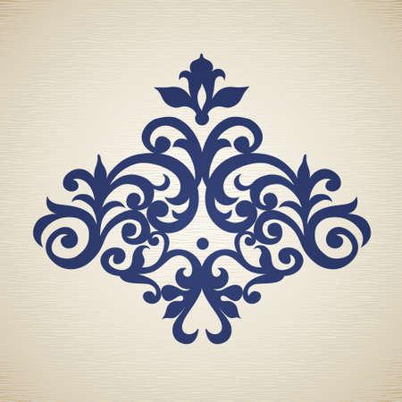 barroco: Vector barroco ornamento en el estilo victoriano. Adornado elemento para el diseño. Kit de herramientas para el diseñador. Puede ser utilizado para la decoración de las invitaciones de boda, tarjetas de felicitación, decoración de bolsas y ropa.
