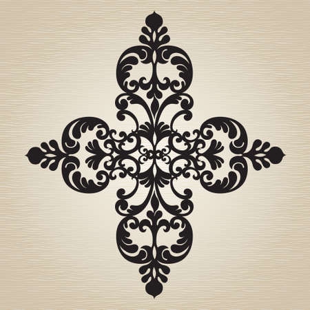 cartouche: Vector baroque ornament in Victorian style. Ornate element for design. Toolkit for designer. It can be used for decorating of wedding invitations, greeting cards, decoration for bags and clothes. Illustration