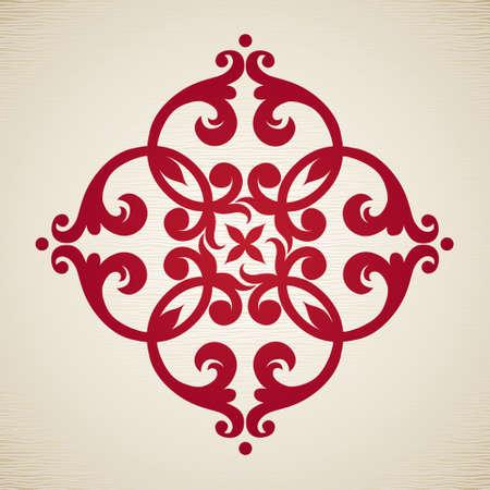 Vector barokke ornament in Victoriaanse stijl. Sierlijke element voor ontwerp. Toolkit voor de ontwerper. Het kan worden gebruikt voor het versieren van de bruiloft uitnodigingen, wenskaarten, decoratie voor tassen en kleding.