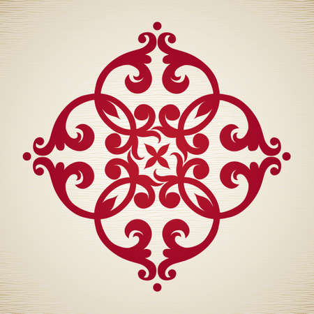 motif floral: Vector baroque ornament in Victorian style. Ornate element for design. Toolkit for designer. It can be used for decorating of wedding invitations, greeting cards, decoration for bags and clothes. Illustration