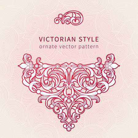 Vector floral vignette in Eastern style. Ornate element for romantic design, place for text. Ornamental vintage illustration for wedding invitations, greeting cards. Decor for Valentines days card Illustration