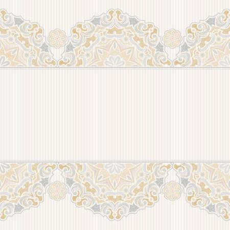 encaje: Vector sin frontera en estilo oriental. Elemento de la vendimia para el dise�o. Estampado de flores ornamentales, de tracer�a en colores pastel para las invitaciones de boda, tarjetas de felicitaci�n. Decoraci�n delicada tradicional, fondo de filigrana.