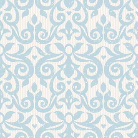 victorian wallpaper: Vector seamless pattern with blue ornaments. Vintage element for design in Victorian style. Ornamental lace tracery. Ornate floral decor for wallpaper. Endless vintage texture. Light pattern fill.