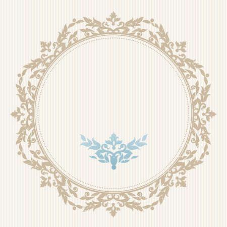 bordes decorativos: Vector adornado marco en estilo victoriano. Elemento decorativo para el diseño y el lugar de texto. Patrón de encaje ornamental para las invitaciones de boda y saludo decoración cards.Traditional sobre fondo claro.